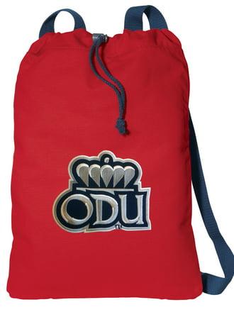 Broad Bay Old Dominion University Drawstring Backpack 100/% Cotton ODU Cinch Bag