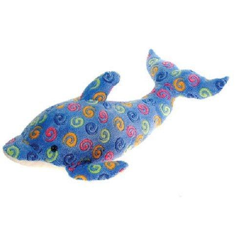 23 Large Blue Dolphin With Swirl Print Plush Stuffed Animal Toy By