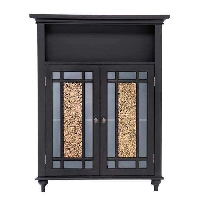 Elegant Home Fashions ELG-534 Windsor Double Door Floor Cabinet - Dark Espresso