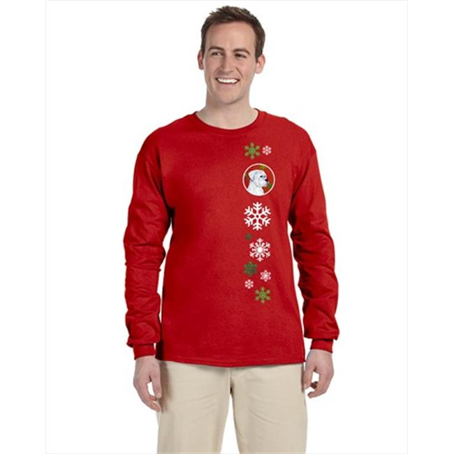 Carolines Treasures SS4716-LS-RED-XL Boxer Red Snowflakes Long Sleeve Red Unisex Tshirt - Extra Large - image 1 de 1