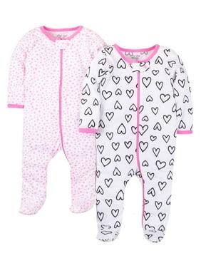 Little Star Organic Sleep 'N Play, 2-pack (Baby Girls)