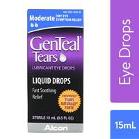 GENTEAL Tears Moderate Lubricant Eye Drops for Dry Eye Symptom Relief, 15mL