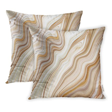 BOSDECO Gray Architecture Marble Ink Colorful Brown Pattern Abstract Beautiful Black Ceramic Pillowcase Pillow Cover 20x20 inch Set of 2 - image 1 de 1