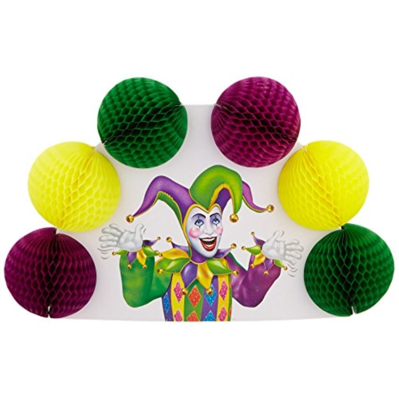 Mardi Gras PopOver Centerpiece Party Accessory 1 count 1Pkg