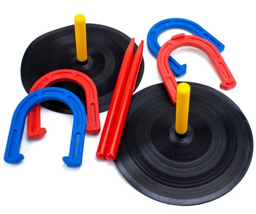 Deluxe Indoor and Outdoor Horseshoe Game Set, Made using ...