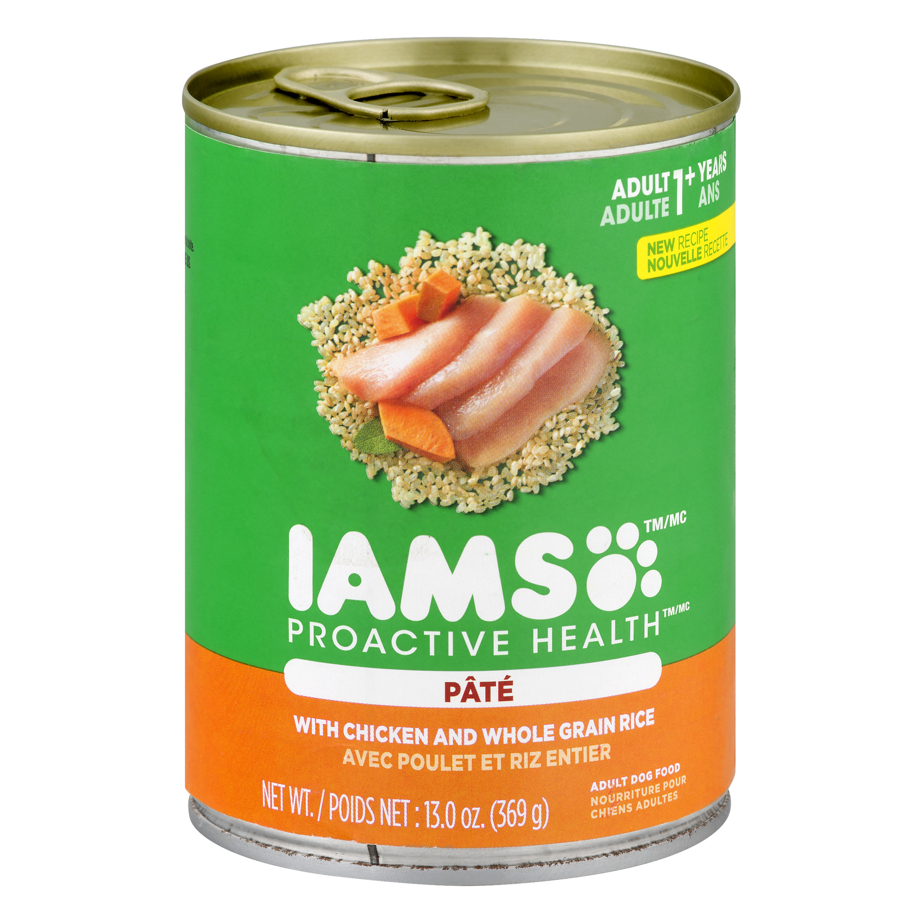 IAMS PROACTIVE HEALTH Adult With Chicken and Whole Grain Rice Pate Wet