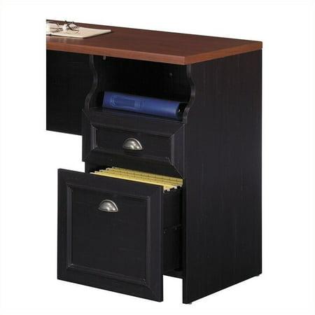 Pemberly Row L-Shaped Wood Computer Desk in Black - image 3 de 4