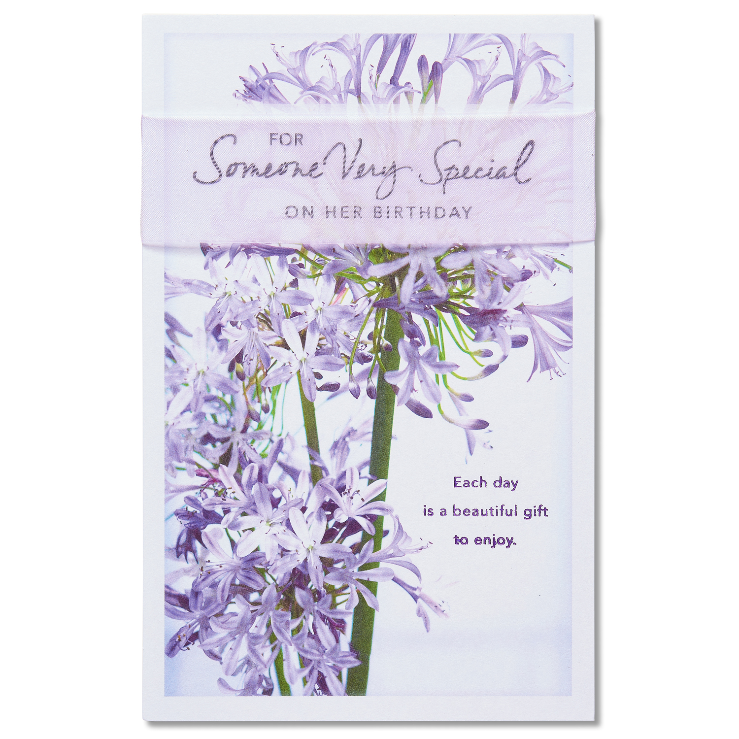 American Greetings Floral Birthday Card for Her with Ribbon