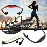 Sports Wireless Stereo b luetooth Wrap Around Earphones Headset Headphone For Samsung iPhone Cellphone PC - Red