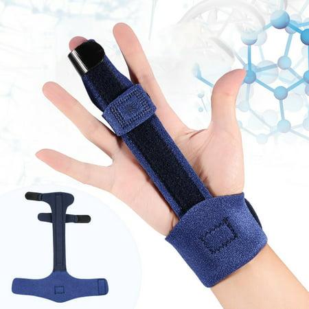 WALFRONT Men & Women Adjustable Finger Support Splint, Metacarpal Fracture Healing Mallet Finger Correcting Support