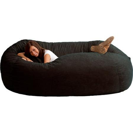 - XXL 7' Fuf Comfort Suede Bean Bag, Multiple Colors - Walmart.com