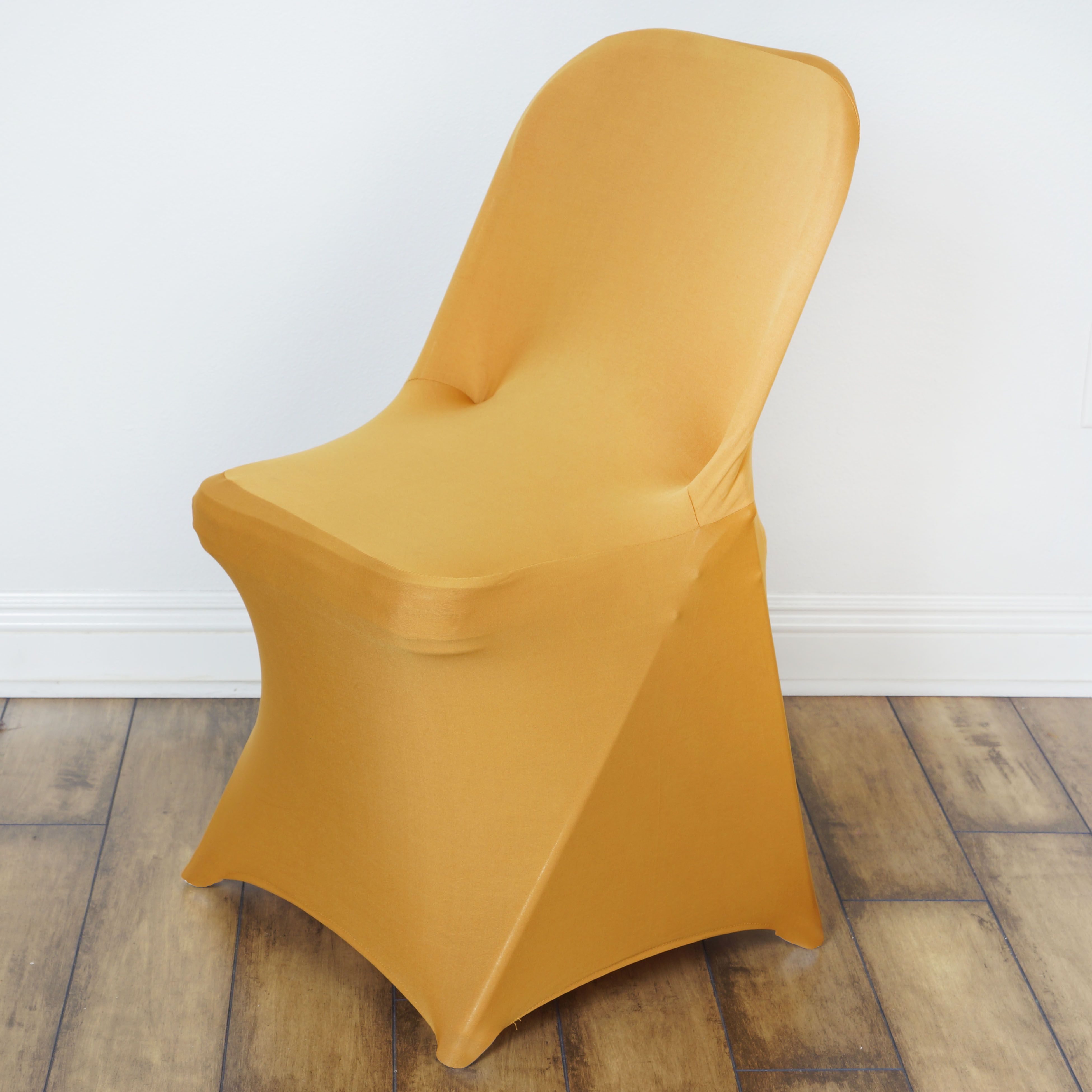 BalsaCircle Spandex Stretchable Folding Chair Covers Slipcovers for Party Wedding Reception Decorations