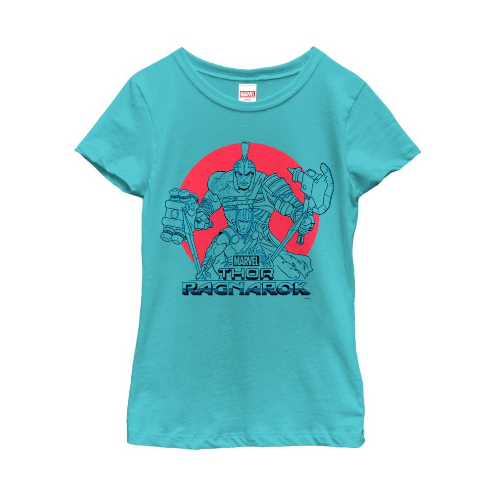 Marvel Girls' Thor: Ragnarok Hulk Sunset T-Shirt