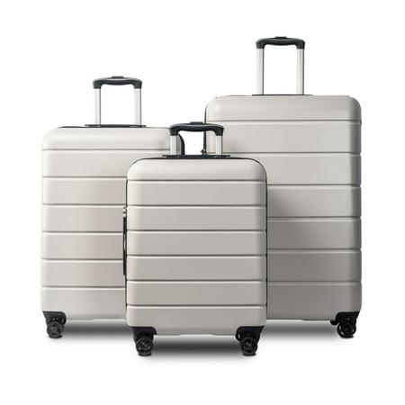 Luggage 3 Piece Set Suitcase Spinner Hardshell Lightweight Expandable TSA Lock 4-Wheel Upright Luggage for 360 Degree Movement(20/24/28), Blue