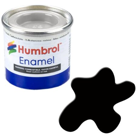 Humbrol Model Enamel Paint No.201 Metallic Black, AA6392, Fast dry paint developed for use on plastic model kits but which can also be used on other.., By AB