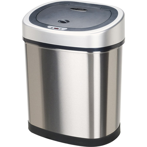 Nine Stars Motion Sensor Oval Touchless 11-Gallon Trash Can