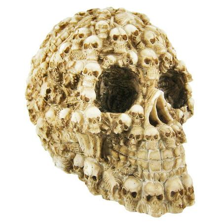 Skeleton Figure (Ossuary Style Human Skull Statue Figure)