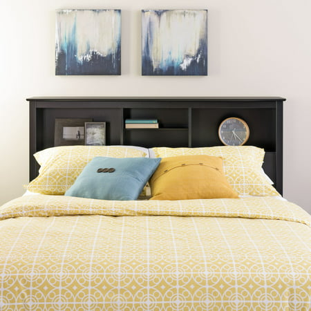 Prepac Brisbane Full-Queen Storage Headboard, (Stained Full Headboard)