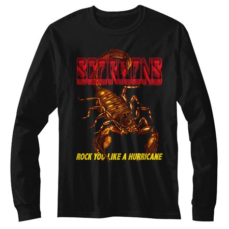 Scorpions Irl Black Adult Long Sleeve T-Shirt Tee - image 1 of 1