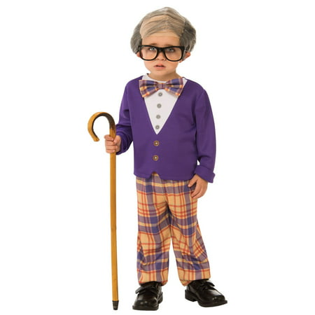 Boys Little Old Man Costume - Old Man Beard Costume