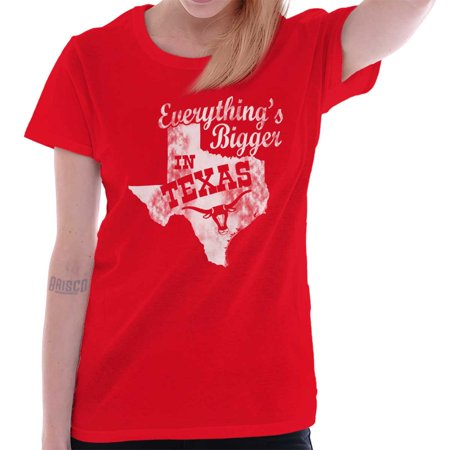 Brisco Brands Everything Bigger In Texas TX Adult Short Sleeve (Everything's Bigger In Texas)