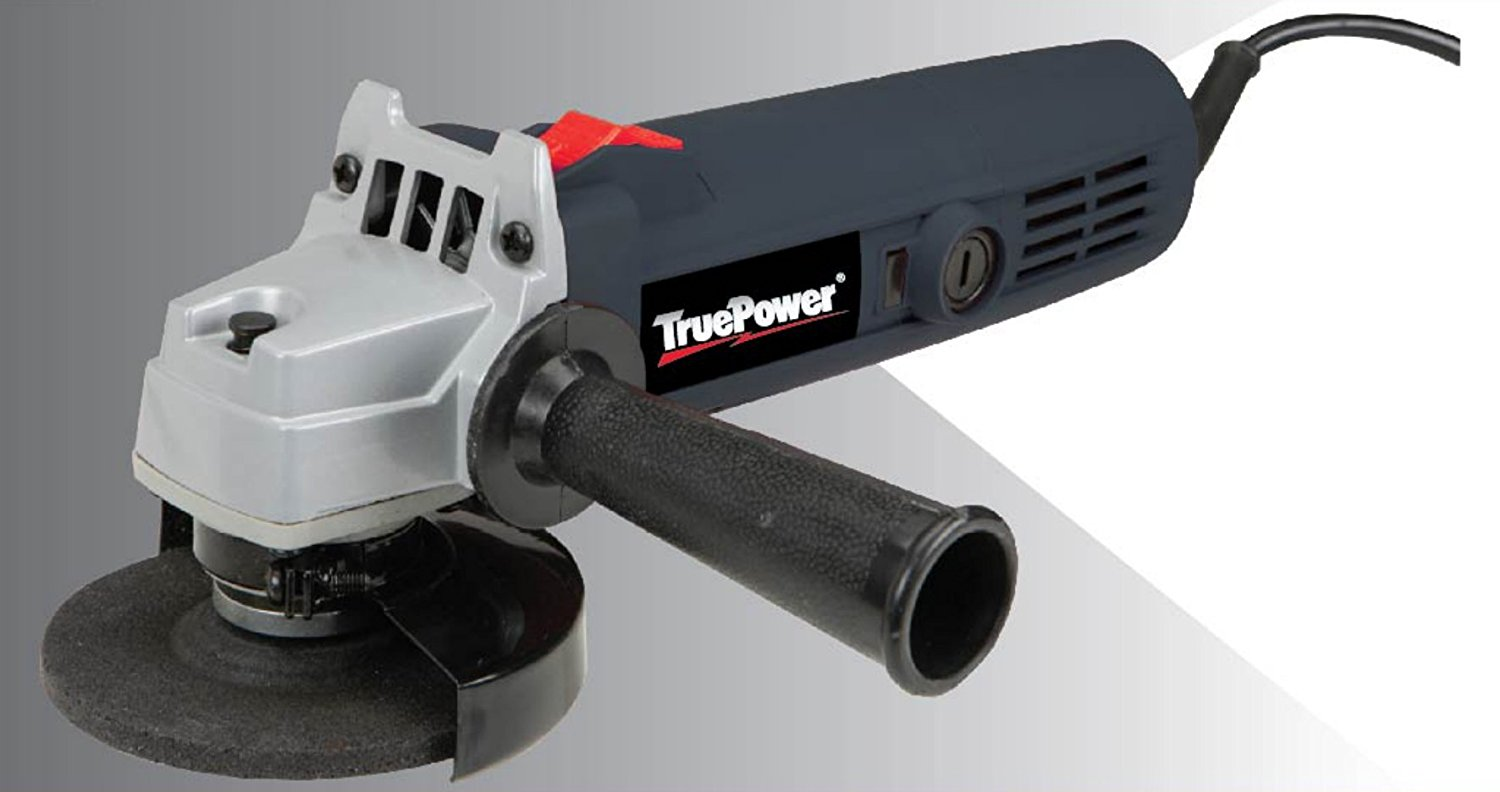 "TruePower 4"" Angle Grinder 11,000 RPM 4.5 Amp 5 8""-11 Spindle Size 4"" Max... by TruePower"