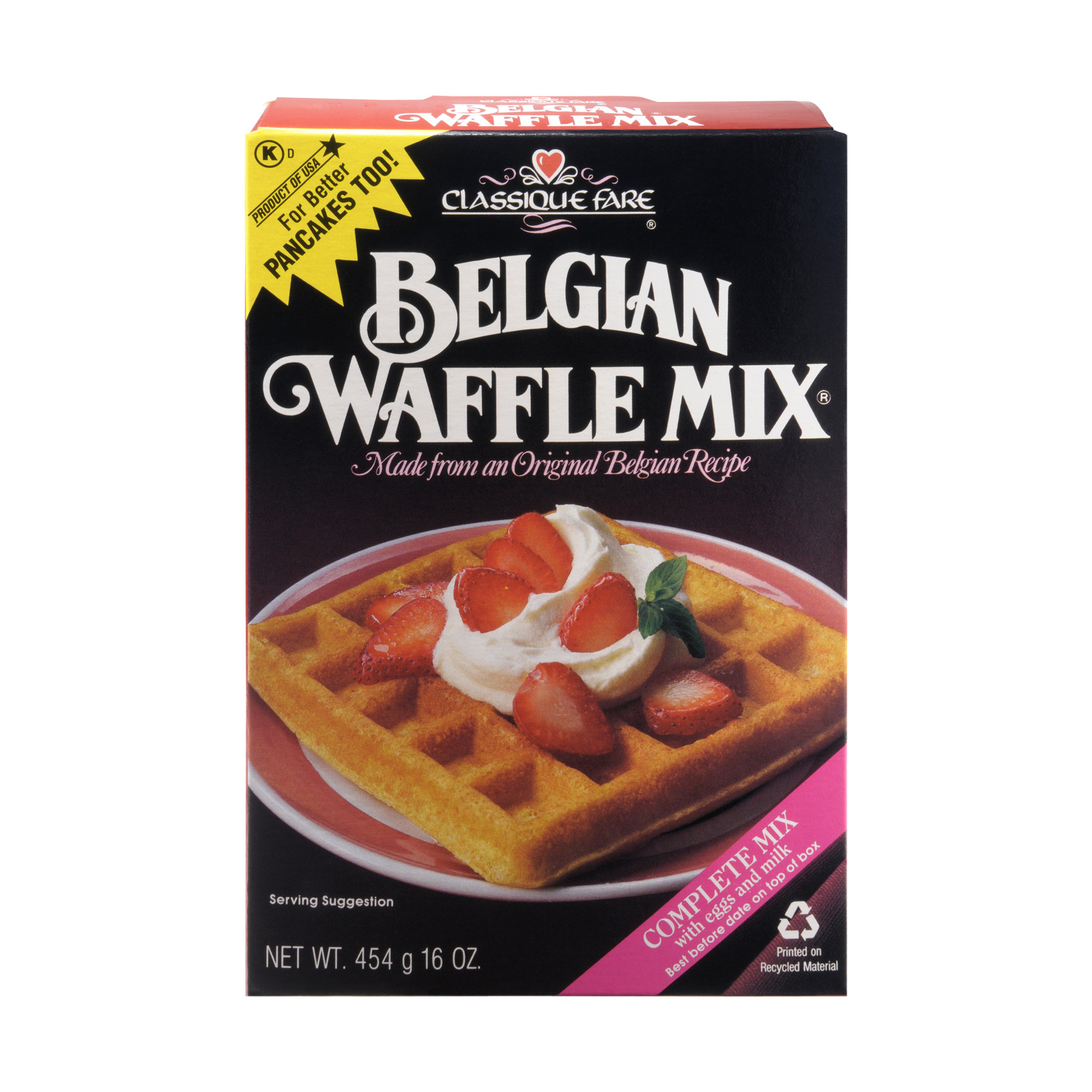 Classique Fare Belgian Waffle Mix, 16.0 OZ by Modern Products, Inc.