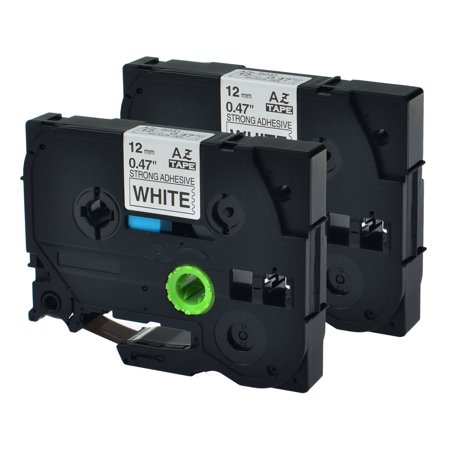 Free Label Maker - GREENCYCLE 2PK Black on White 12mm TZ Tze Tze-S231 TZ-S231 TZeS231 TZS231 Strong Adhesive Laminated Label Tape for Brother P-touch PT-H100 PT-D450 PT-E550W Label Maker