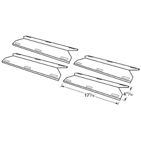 Grand Isle Grill Heat Plate 860-0193 Stainless Steel Heat Shield 4 (Stainless Steel Heat Shield)