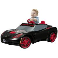 Power Wheels 6V Corvette Power Wheels Red Rims Fisher-Price Sport Toy 6V (Black)
