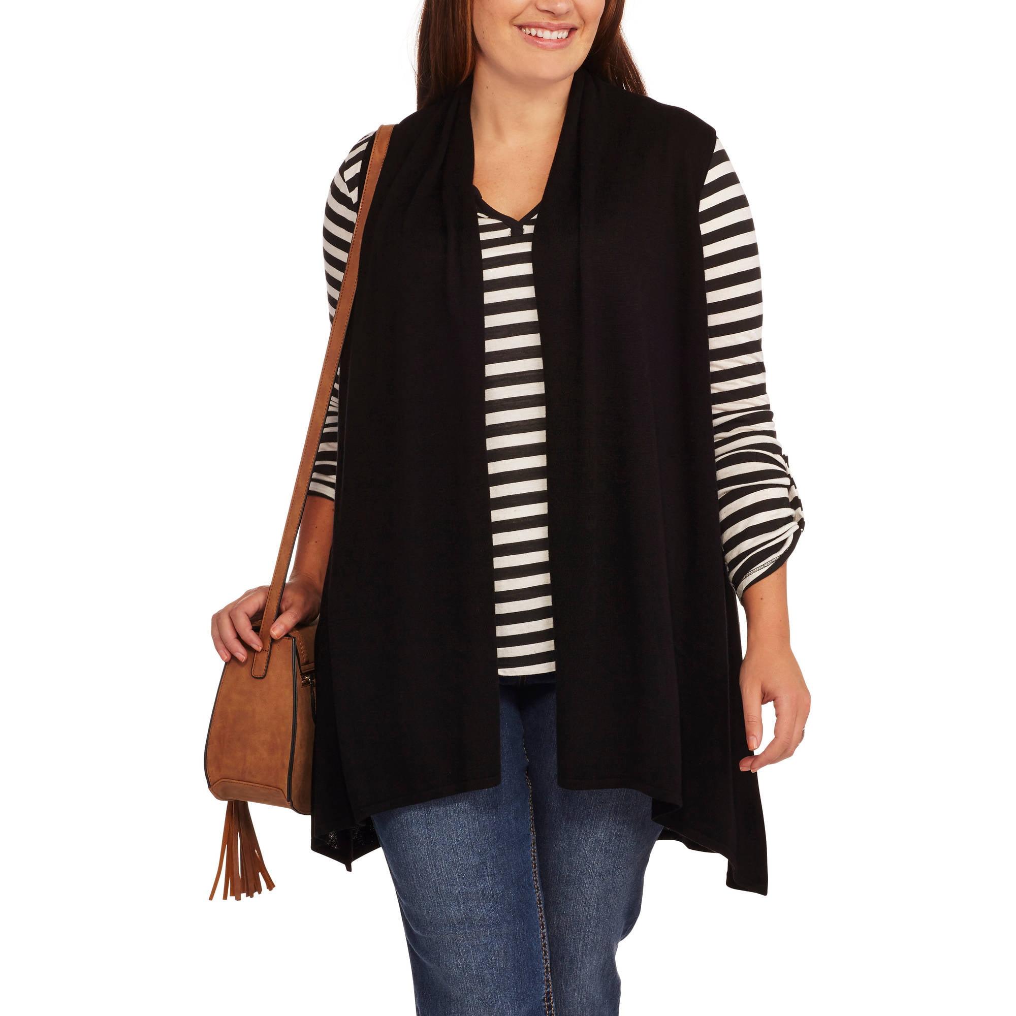 Concepts Womens Plus Size Flyaway Sweater Vest Walmartcom