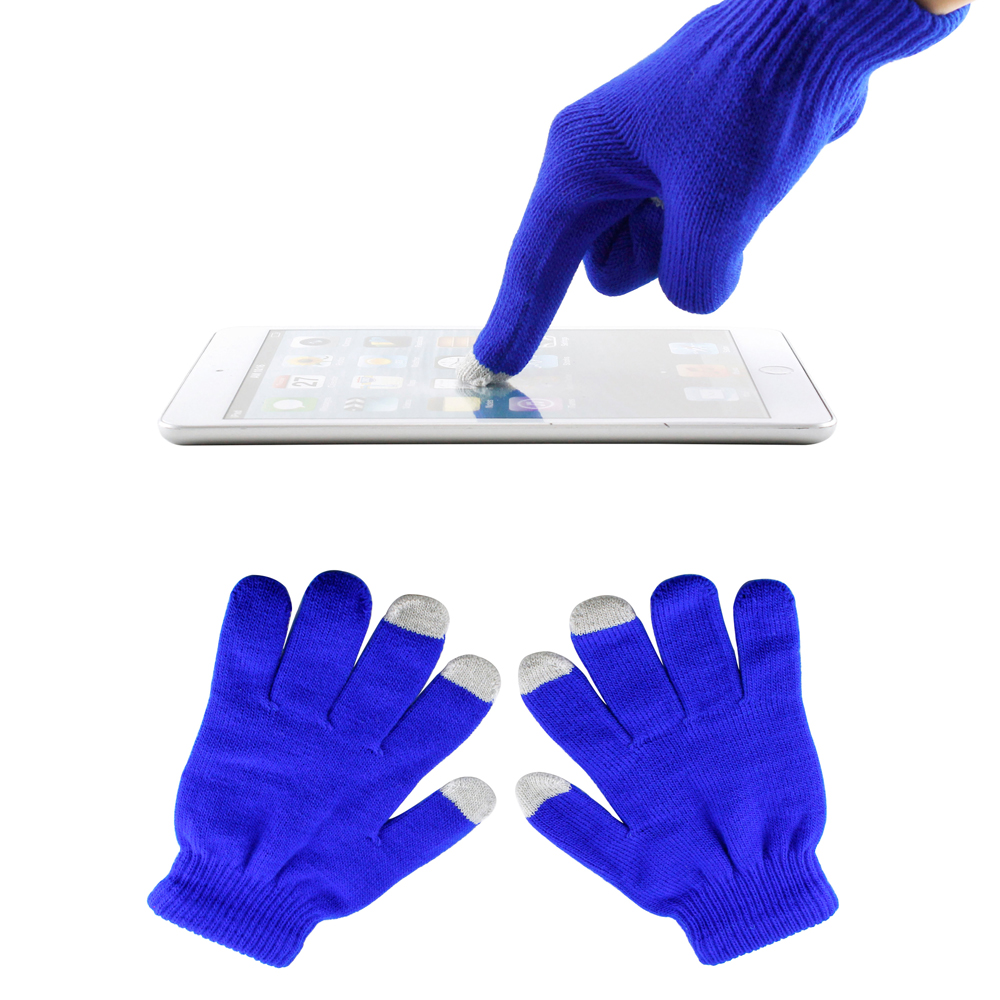 Dark Blue Unisex Touch Screen Gloves for Capacitive Touch Screens Smartphones Texting