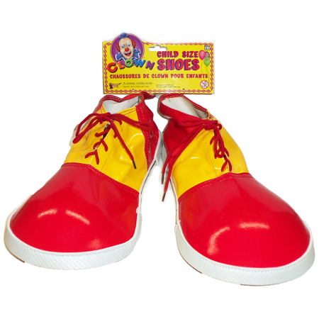 a2945e8ee Forum Novelties - Child Clown Shoes Jumbo Shoe Covers Red & Yellow Boys Kids  One Size Costume Accessories - Walmart.com