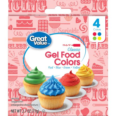 Great Value Gel Food Colors, Classic, 4 Count - Walmart.com