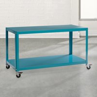 Sauder Woodworking Soft Modern Multi-Cart, Peacock Blue Finish