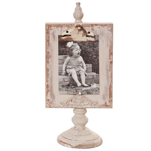 Wilco Home Shabby Elegance Clipboard Tabletop Picture Frame