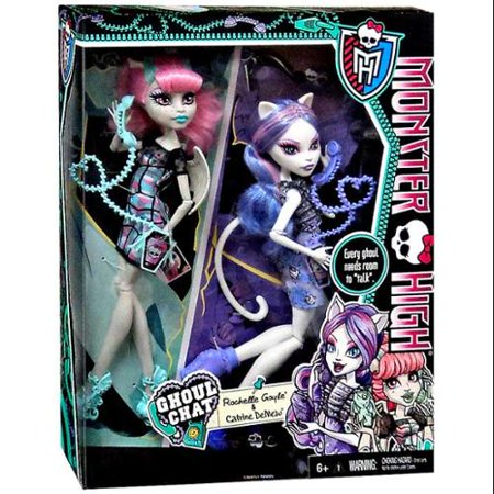 Monster High Ghoul Chat Doll 2-Pack Rochelle Goyle & Catrine (Monster High Ghouls Night Out 4 Pack)