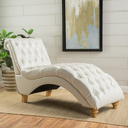 Christopher Knight Home Rhodes Tufted Faux Leather Chaise