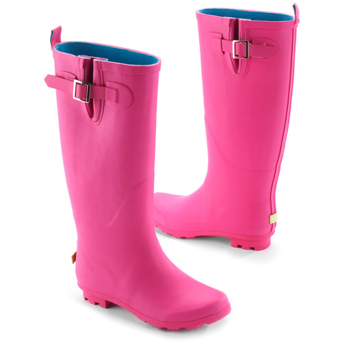 Women's Metal Buckle Rain Boots