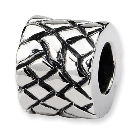 Sterling Silver Reflections Basket Weave Bali Bead