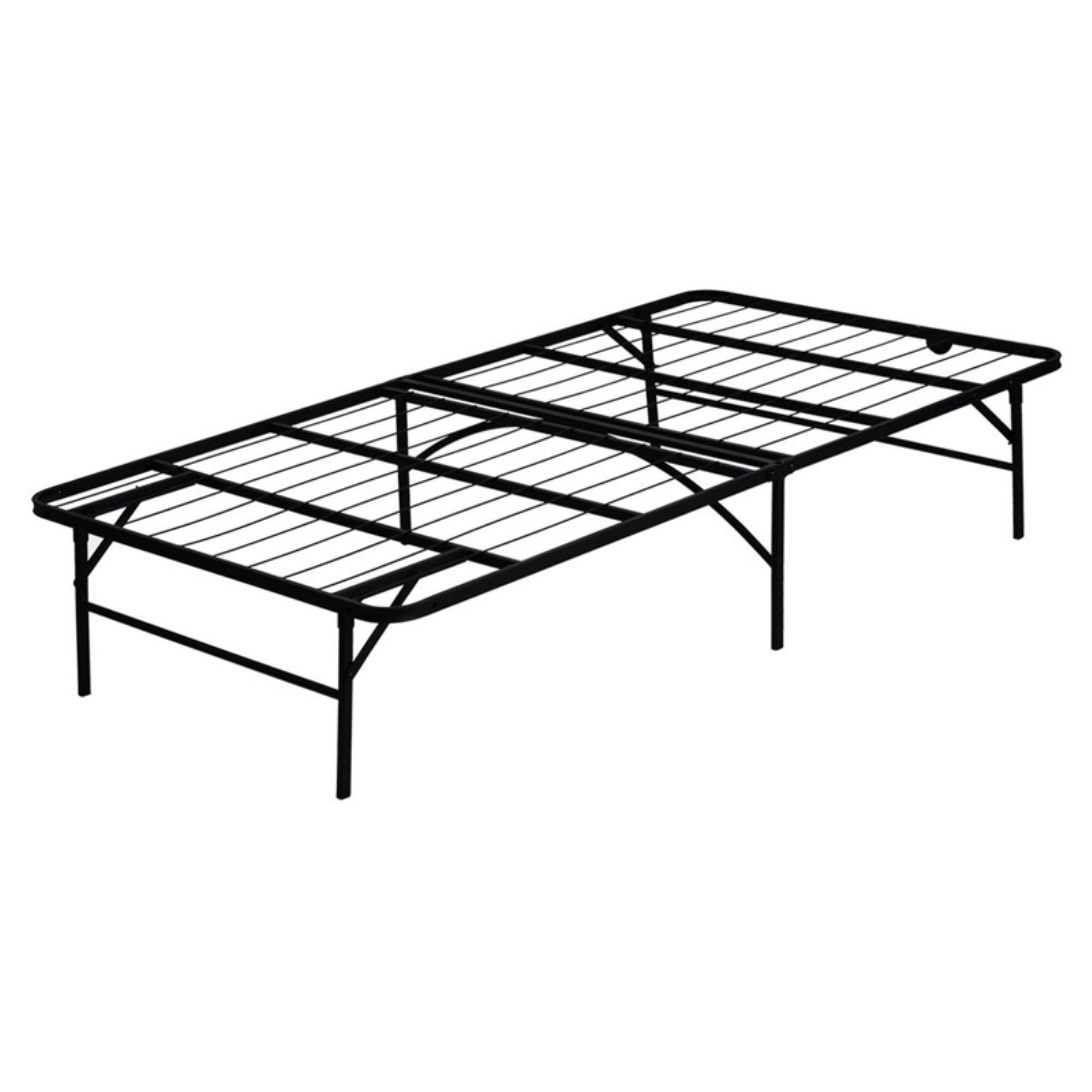 Furinno Angeland Mattress Foundation Platform Metal Bed Frame, Multiple Sizes
