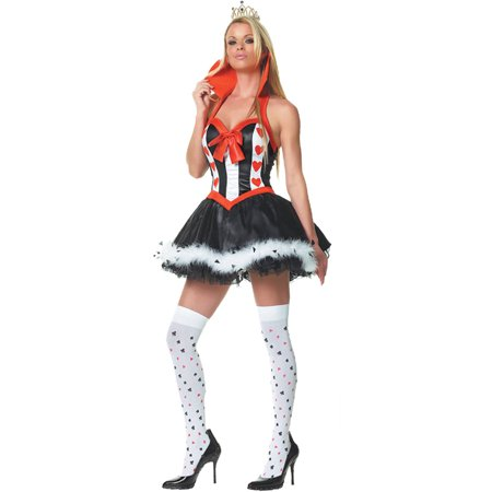 Queen of Hearts Women's Adult Halloween Costume, One Size, XL (18-20) - Queen Of Hearts Makeup For Halloween