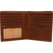 Mens Leather Bifold Hipster Wallet Organizer Italian Leather by Tony Perotti