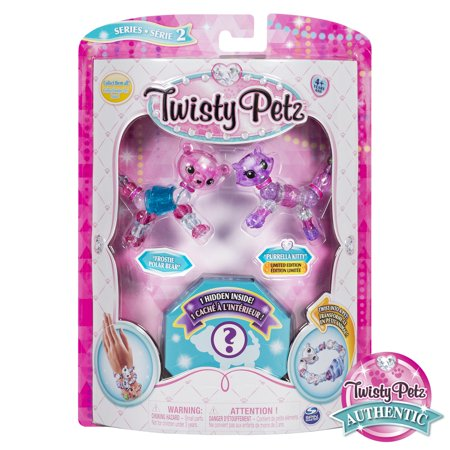 Twisty Petz, Series 2 3-Pack, Frostie Polar Bear, Purrela Kitty and Surprise Collectible Bracelet Set for - Fierce Polar Bear