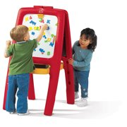 Step2 Easel for 2 Includes 77 foam magnetic letters, numbers and signs, Red or Pink