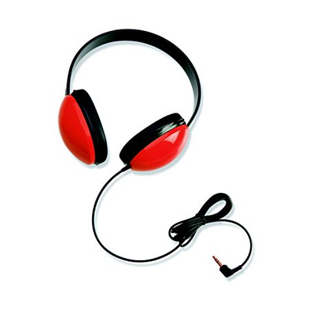 - Califone 2800-RD Listening First Stereo Headphone (Red, 2-Pack)