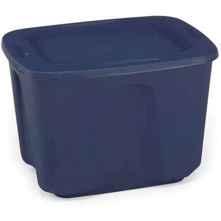 Homz Storage Tote, 18 gal, Cobalt Blue, Set of 8 (Homz 18 Gallon Storage Tote Set Of 8)