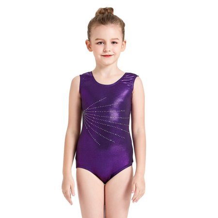 6108d58a31e Nicesee Girls 5-14Y Shinny Gymnastics Leotard Ballet Dance Wear -  Walmart.com