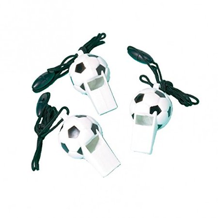 Soccer Whistles (12 count) Party - Soccer Birthday Party Ideas