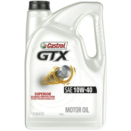 (3 Pack) Castrol GTX 10W-40 Conventional Motor Oil, 5 QT